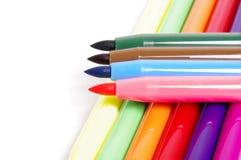 Plumas de extremidad de fieltro multicoloras Imagen de archivo libre de regalías
