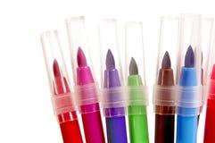 Plumas de extremidad de fieltro multicoloras Imagen de archivo