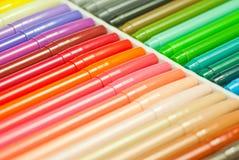 Plumas de la magia del arco iris Fotografía de archivo