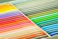 Plumas de la magia del arco iris Fotografía de archivo libre de regalías