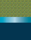 Plumas del pavo real del diseño y cinta azul Fotografía de archivo