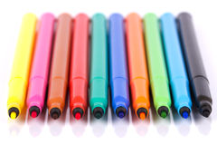 Plumas felt-tip coloreadas Imagenes de archivo