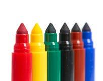 Plumas Felt-Tip multicoloras Fotografía de archivo libre de regalías