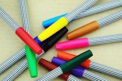 Plumas mágicas coloridas Imágenes de archivo libres de regalías