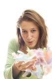 Plumas que soplan Fotos de archivo libres de regalías