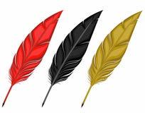 Plumas Rojas Negras Del Oro Para Escribir Diversos Colores