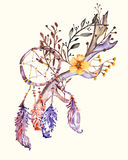 Plumas tribales del estilo del boho Imagen de archivo