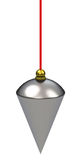 The the plumb bob. 3d generated picture of a plumb bob Royalty Free Stock Photo