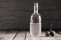 Plumb brandy, Romanian tuica Royalty Free Stock Photo
