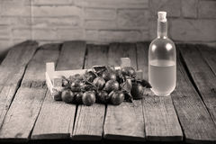 Plumb brandy, Romanian tuica Stock Images