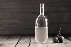 Plumb brandy, Romanian tuica. Made of plums Royalty Free Stock Photo