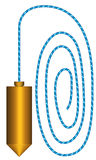 Plumb. Illustration of the plumb tool icon Stock Photo