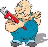 Plumber. This is a  image done in multiple layers for easy editing Royalty Free Stock Images