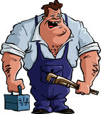Plumber. On a white background, vector Stock Photo