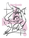 Plumber. Illustration of a plumber to work stock illustration