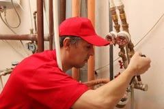 plumber Arkivbild