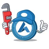 Plumber Ardor coin mascot cartoon. Vector illustration Royalty Free Stock Image