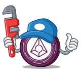 Plumber Augur coin mascot cartoon. Vector illustration Royalty Free Stock Photos