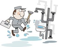 Plumber cartoon Stock Image