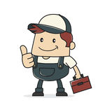 Plumber giving thumbs up Royalty Free Stock Photo