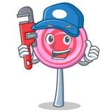 Plumber cute lollipop character cartoon. Vector illustration Stock Photos