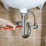 Plumber drain Royalty Free Stock Image
