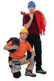 Plumber and electrician Royalty Free Stock Images