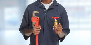 Plumber hands. stock images