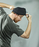Plumber in hat with red beard Stock Photos
