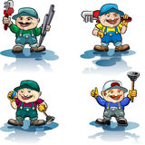 The plumber icon set Stock Images
