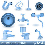 Plumber icons Royalty Free Stock Photo