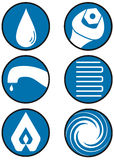 Plumber icons Royalty Free Stock Image