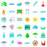 Plumber icons set, cartoon style Stock Photo