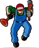 Plumber  illustration. Royalty Free Stock Photos