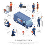 Plumber Isometric Concept Royalty Free Stock Photo