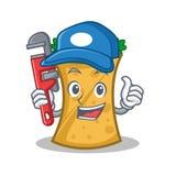 Plumber kebab wrap character cartoon. Vector illustration royalty free illustration