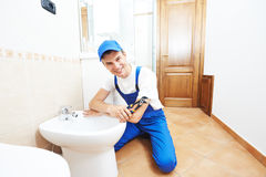 Plumber man worker Royalty Free Stock Photography