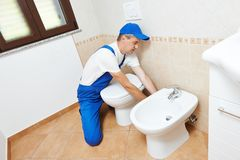 Plumber man worker Royalty Free Stock Photos