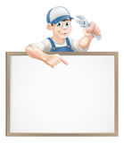 Plumber or mechanic sign Royalty Free Stock Images