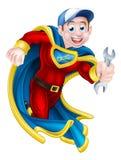 Plumber Mechanic Spanner Hero Royalty Free Stock Photos