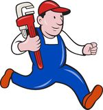 Plumber With Monkey Wrench Cartoon Stock Photos