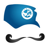 Plumber with mustache. Plumber design for a vector, a cap and mustache Royalty Free Stock Photos