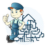 Plumber and pipeline Stock Photos