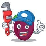 Plumber plum mascot cartoon style stock illustration