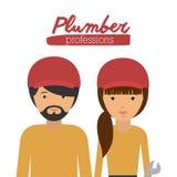 Plumber profession  design Stock Image