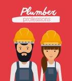 Plumber profession  design Royalty Free Stock Photo