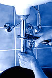 Plumber repairman Stock Images