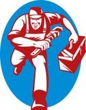 Plumber repairman wrench tool Stock Photo