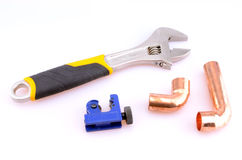 Plumber's Tools Royalty Free Stock Images