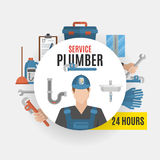 Plumber Service Design Concept Stock Photos
